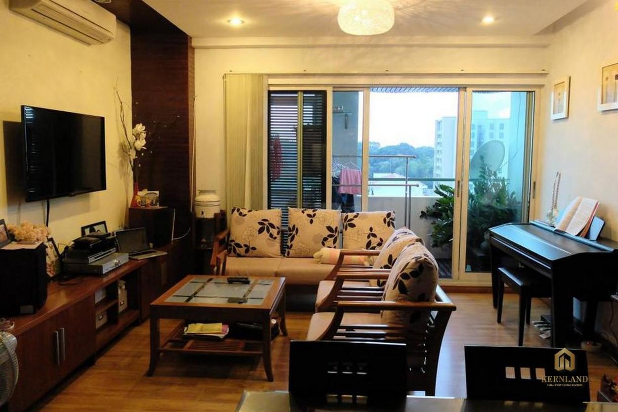 Thiết kế phòng khách căn hộ mẫu dự án Indochina Park Tower