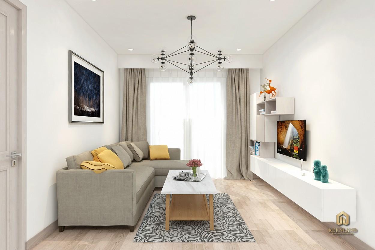 Nội thất phòng khách căn hộ mẫu Starlight Riverside