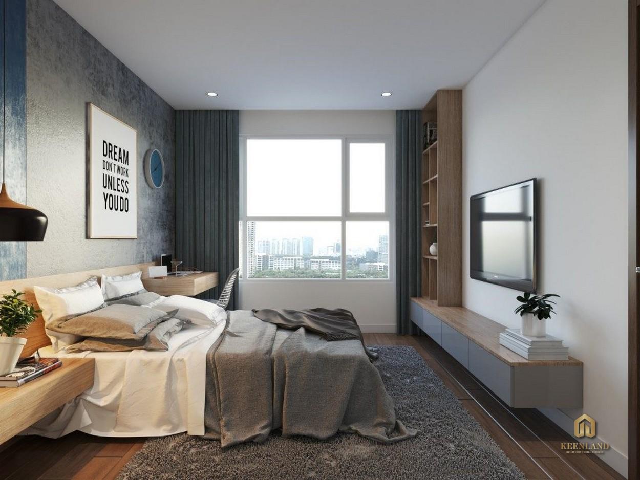 Nội thất phòng ngủ căn hộ mẫu Lucky Palace
