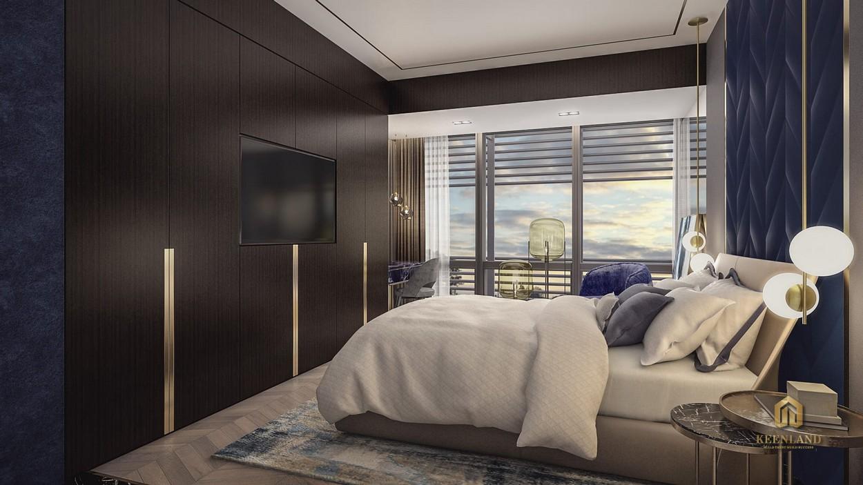 Thiết kế phòng ngủ căn hộ mẫu The Vertex Private Residences