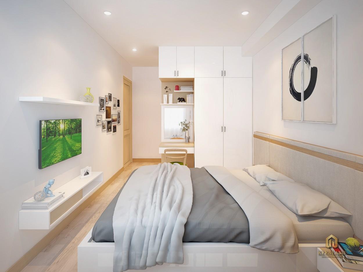 Nội thất phòng ngủ căn hộ mẫu Starlight Riverside