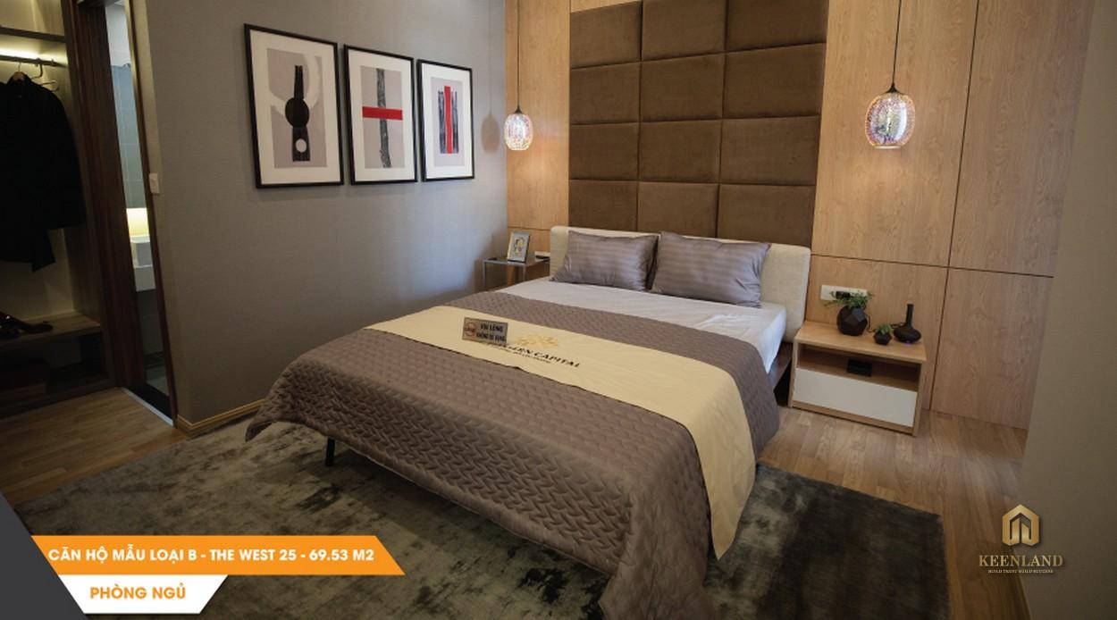 Nội thất phòng ngủ căn hộ mẫu The Western Capital