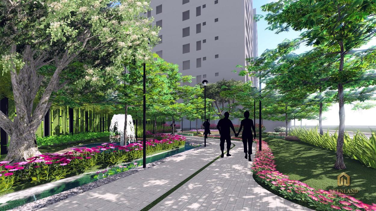 Lối dạo bộ ngập tràn cây xanh - Tiện ích nội khu dự án Starlight Riverside Quận 6