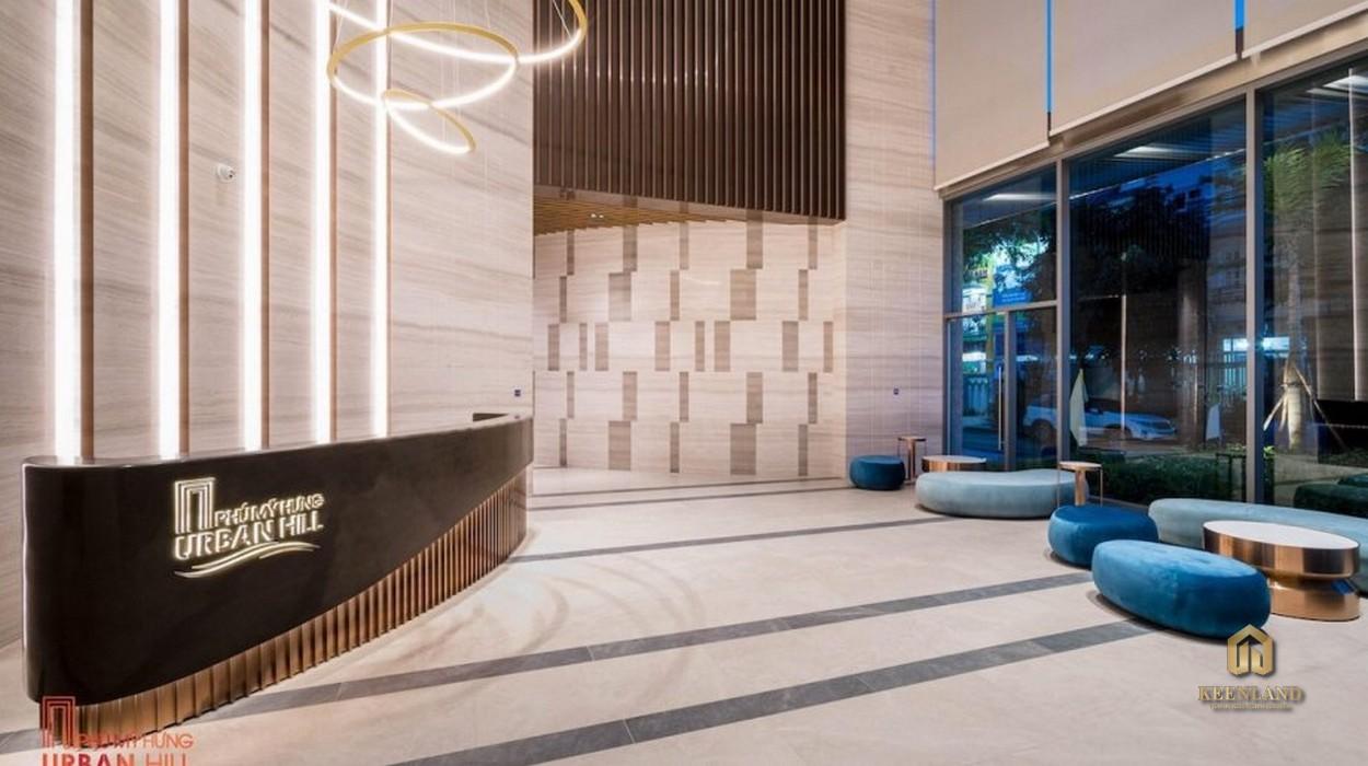 Sảnh lobby tại dự án Urban Hill Phú Mỹ Hưng Quận 7