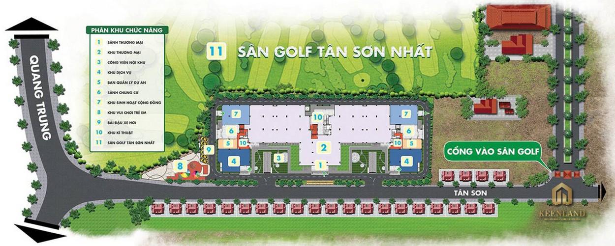 Sơ đồ tiện ích nội khu dự án Golf View Palace