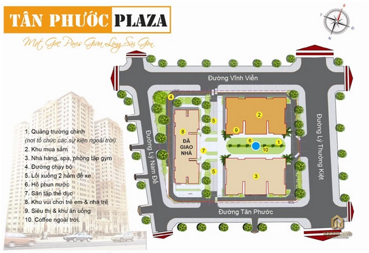 Sơ đồ tiện ích nội khu dự án  Tân Phước Plaza