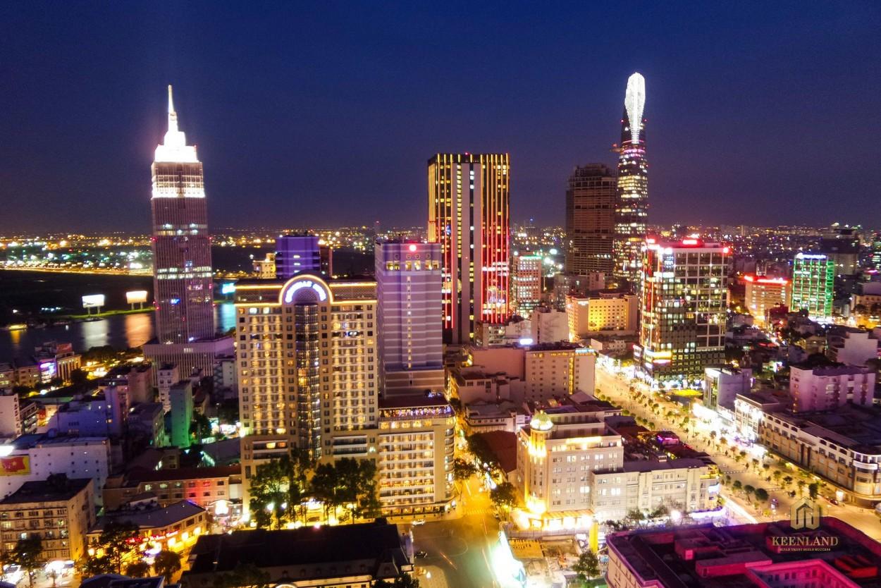 Tầm nhìn toàn cảnh Thành phố về đêm từ dự án chung cư H1 Hoàng Diệu