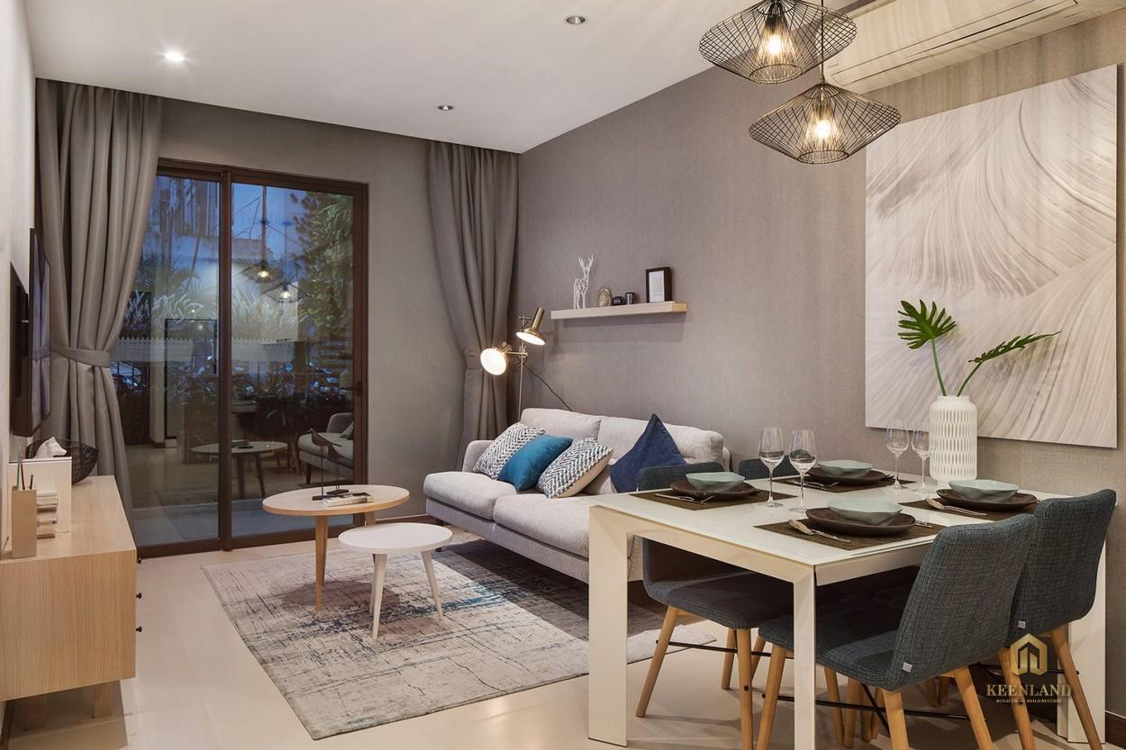 Thiết kế căn hộ mẫu Hado Centrosa 1 phòng ngủ + 1 phòng đa năng