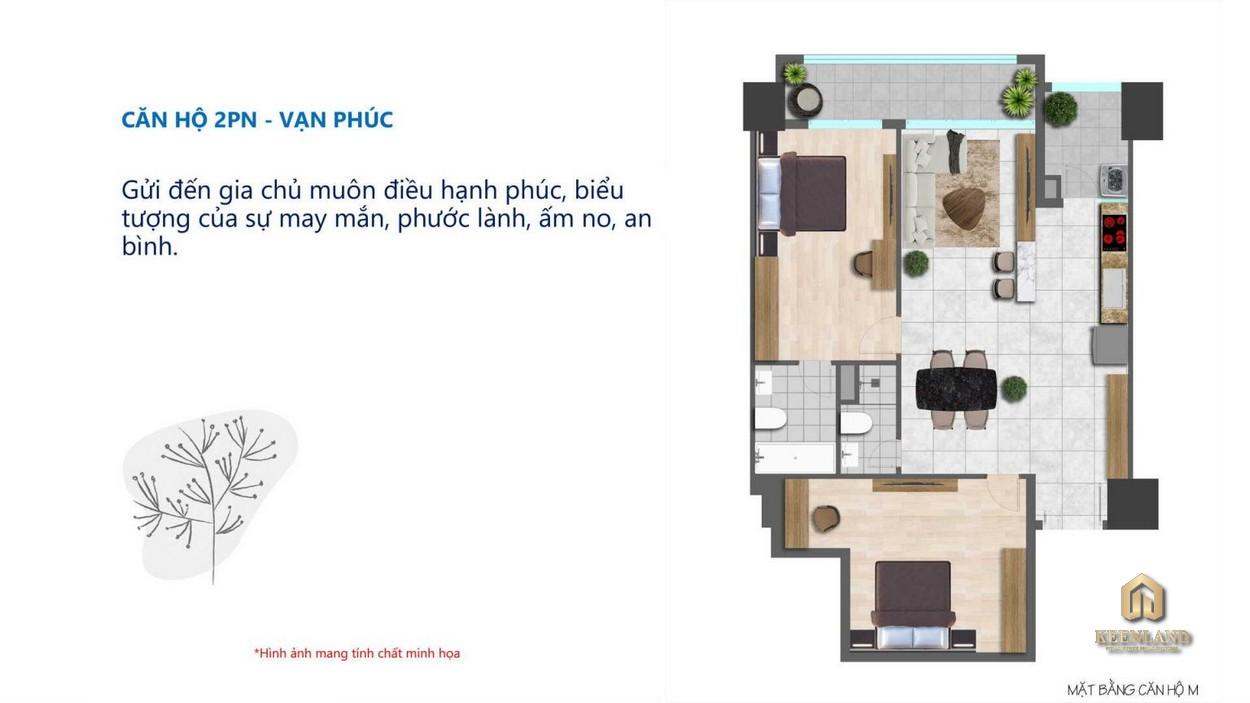 Thiết kế căn hộ Tam Đức Plaza 2 phòng ngủ