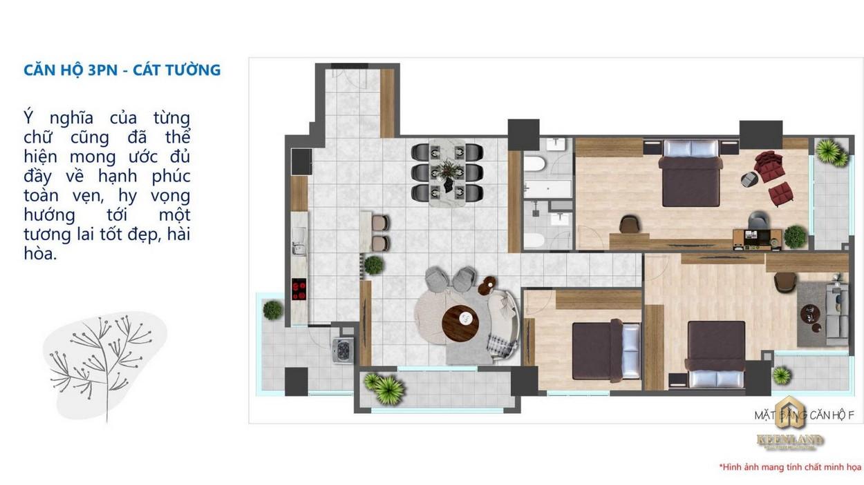 Thiết kế căn hộ Tam Đức Plaza 3 phòng ngủ