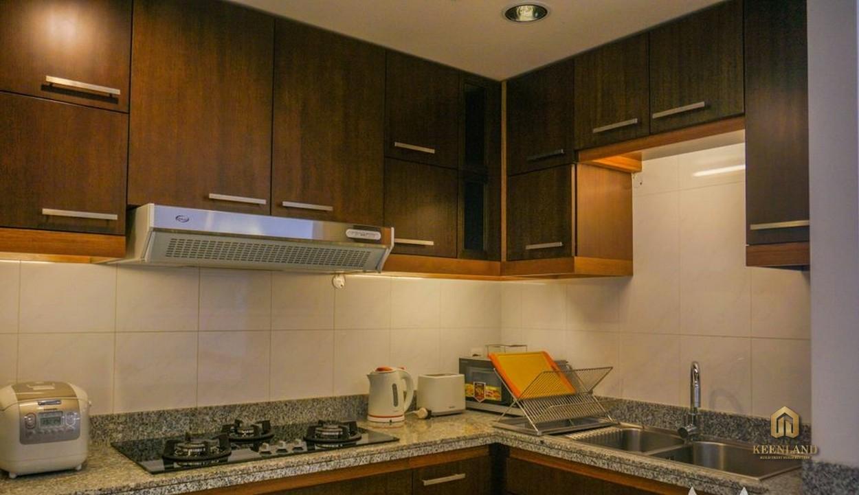 Thiết kế gian bếp căn hộ mẫu An Phú Plaza Quận 3