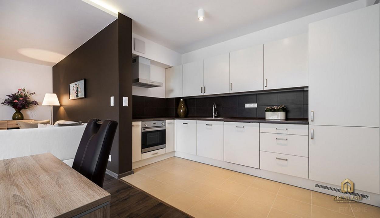 Thiết kế nhà bếp căn hộ mẫu Avalon Saigon