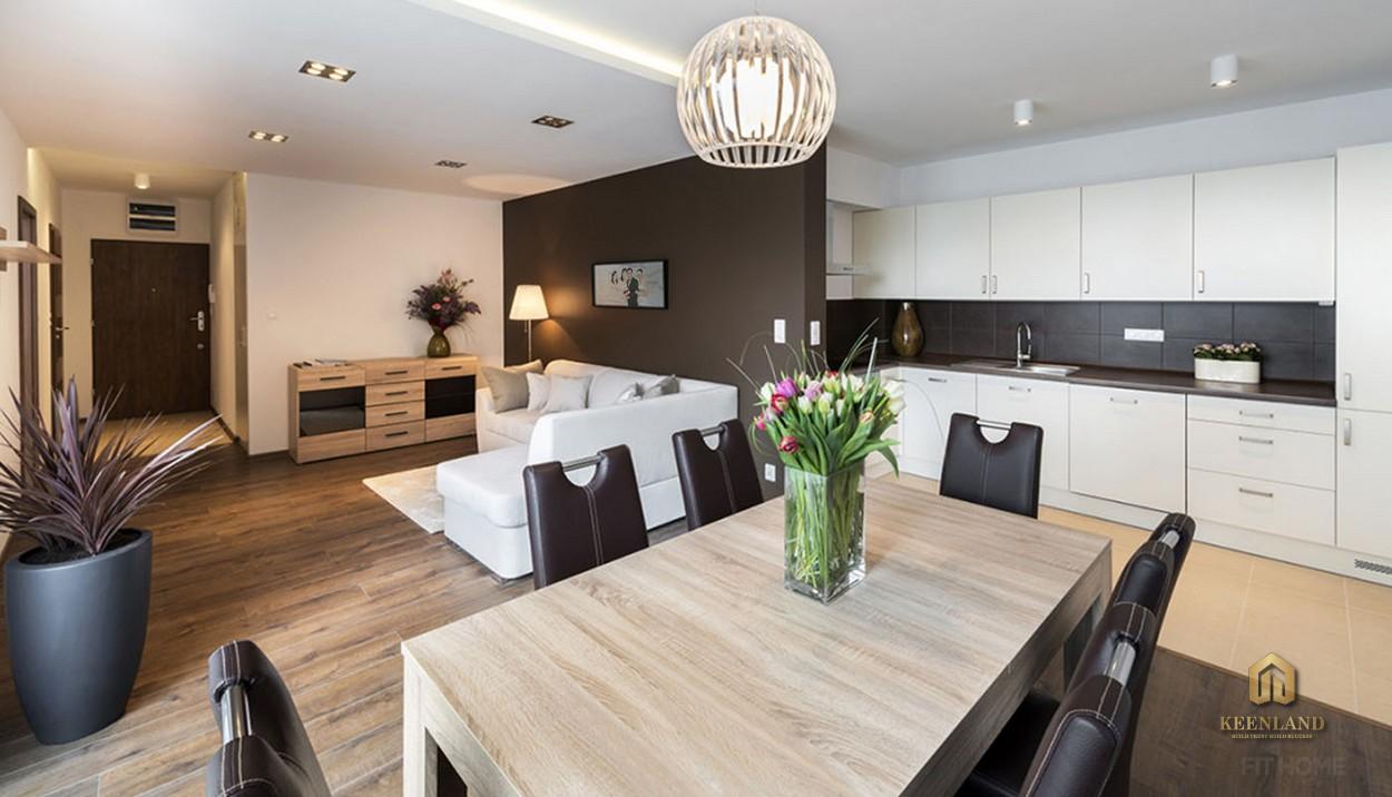 Thiết kế phòng khách căn hộ mẫu Avalon Saigon