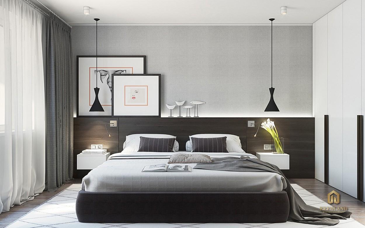 Thiết kế phòng ngủ căn hộ mẫu dự án Central Garden
