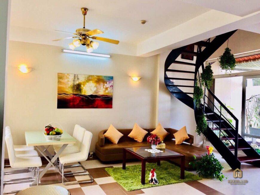 Thiết kế phòng khách căn hộ mẫu Khánh Hội 1