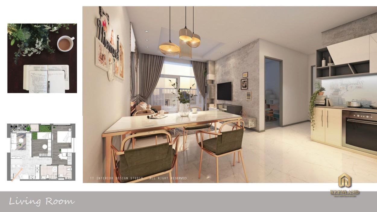Thiết kế căn hộ mẫu dự án chung cư Tôn Thất Thuyết