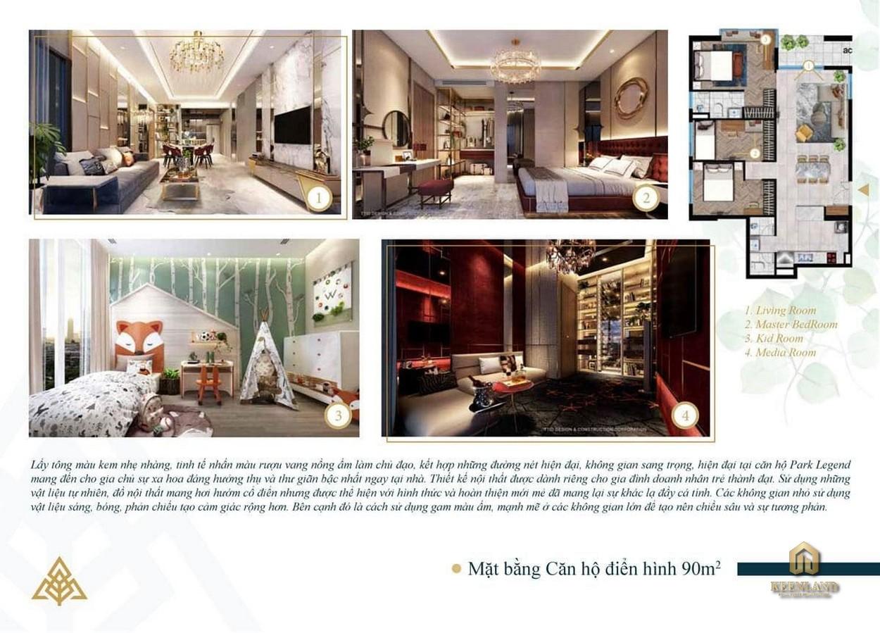Thiết kế căn hộ mẫu Park Legend
