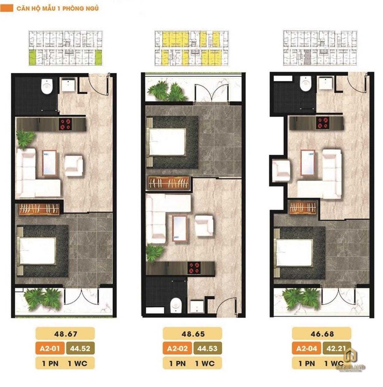 Thiết kế căn hộ điển hình dự án The Western Capital