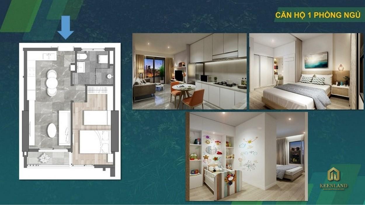 Thiết kế  căn hộ Kingdom 101 1 phòng ngủ