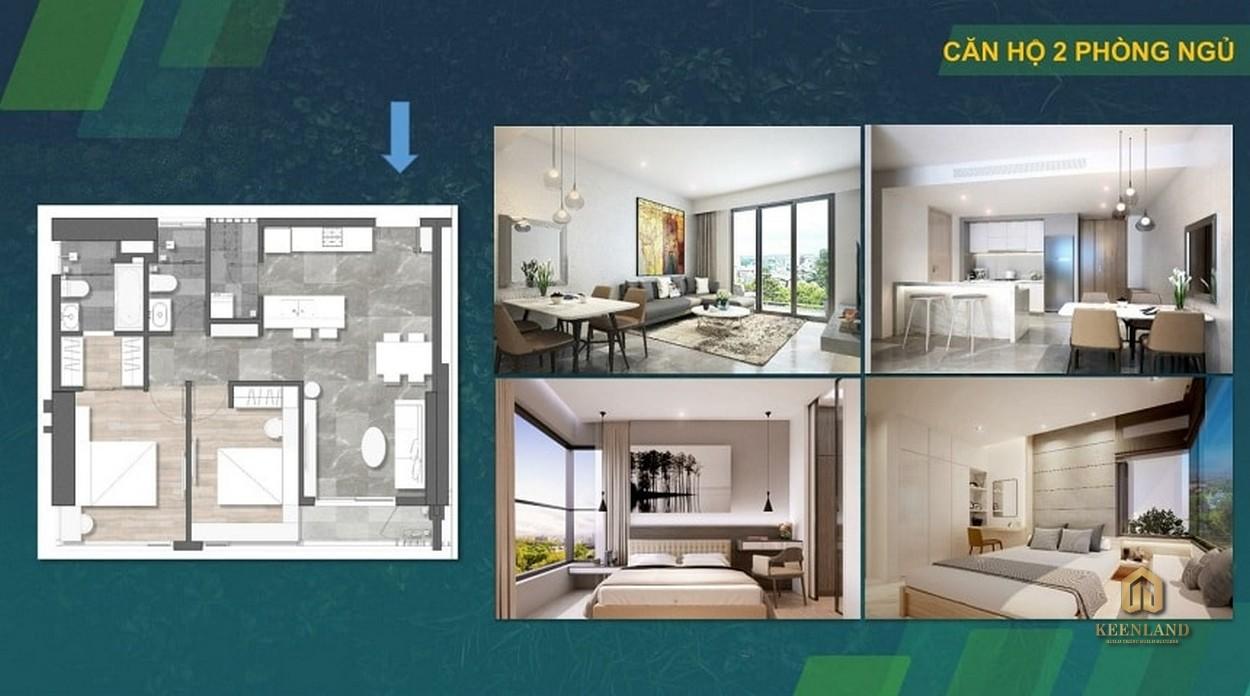 Thiết kế  căn hộ Kingdom 101 2 phòng ngủ