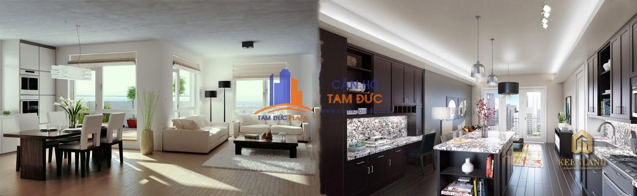 Nội thất tham khảo căn hộ mẫu Tam Đức Plaza