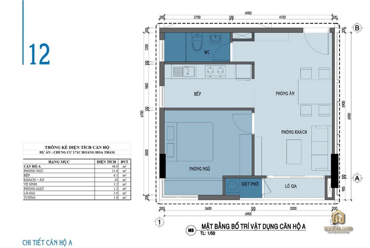 Thiết kế chi tiết căn hộ A Carrilon 3