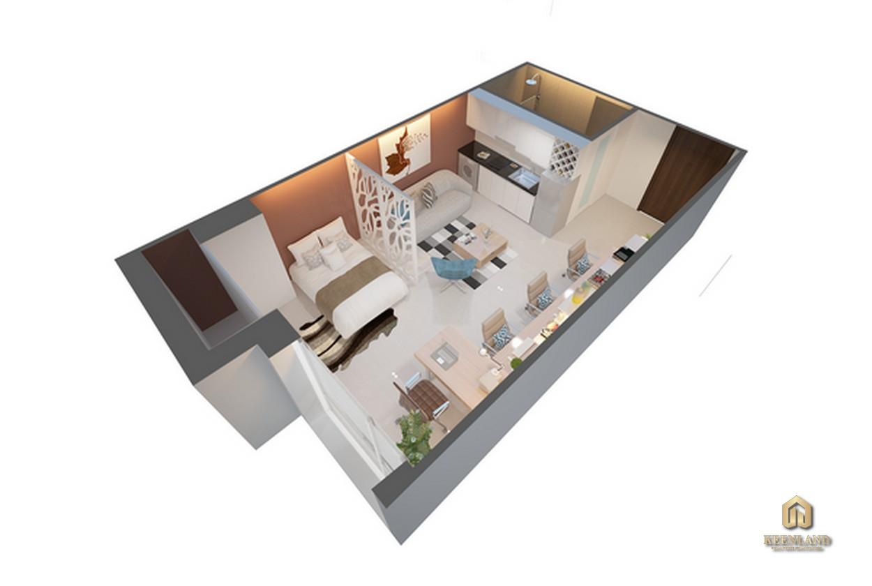 Thiết kế chi tiết căn hộ Golden King loại D2