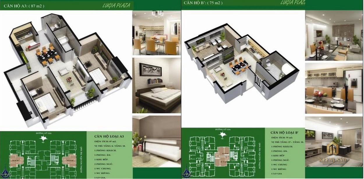 Thiết kế chi tiết căn hộ Lữ Gia Plaza