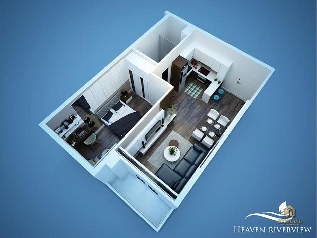 Thiết kế chi tiết căn hộ Heaven Riverview Quận 8