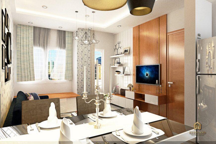 Thiết kế nhà ăn căn hộ mẫu  Khánh Hội 1