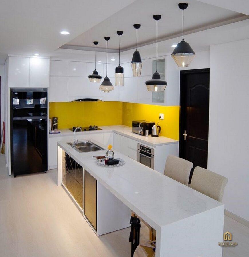 Thiết kế nhà bếp căn hộ mẫu chung cư Vạn Đô Quận 4