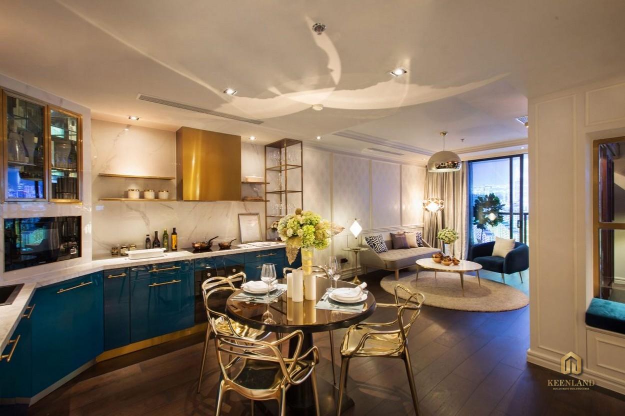 Thiết kế phòng ăn căn hộ mẫu The Grand Manhattan