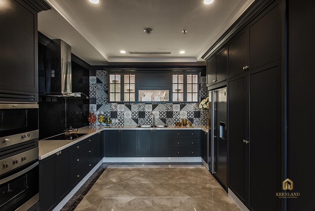 Thiết kế nhà bếp căn hộ mẫu Vinhomes Đồng Khởi