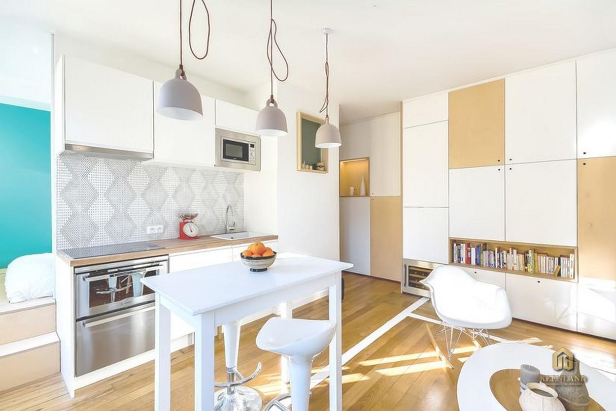 Thiết kế gian bếp căn hộ mẫu chung cư Thế Hệ Mới