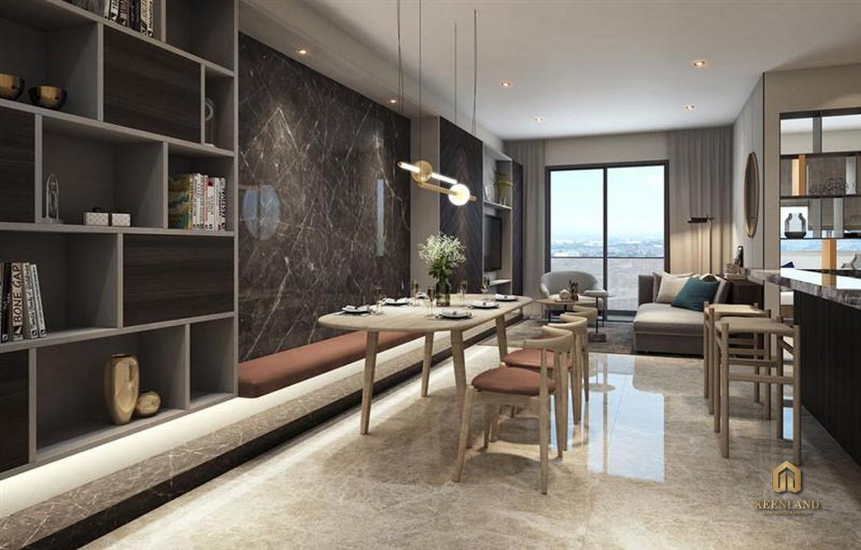 Thiết kế nhà ăn căn hộ mẫu Kỳ Đồng Tower