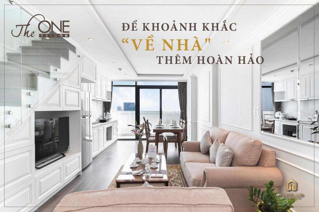 Thiết kế phòng khách căn hộ mẫu The One Saigon