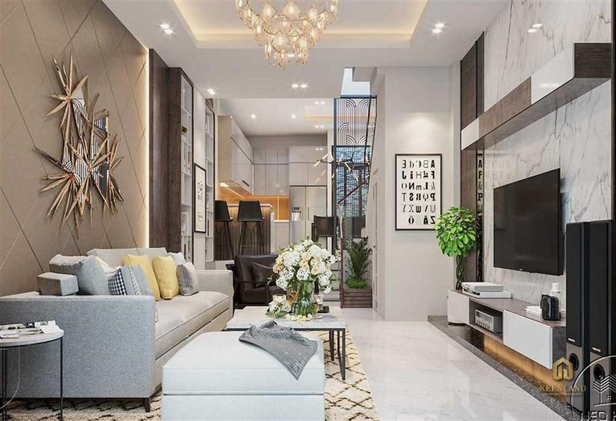 Thiết kế phòng khách căn hộ mẫu The Nexus