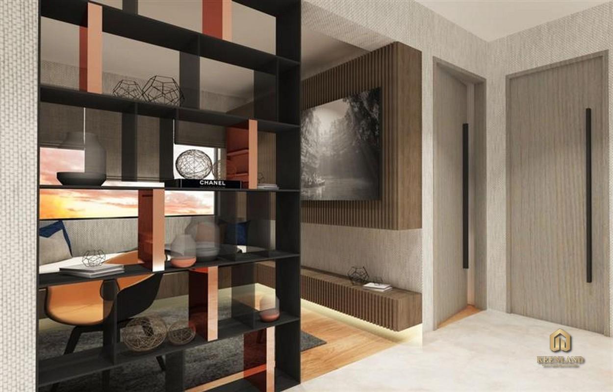 Thiết kế phòng làm việc căn hộ mẫu Kỳ Đồng Tower