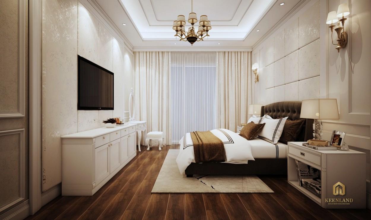 Thiết kế phòng ngủ căn hộ mẫu Grand Central Quận 3