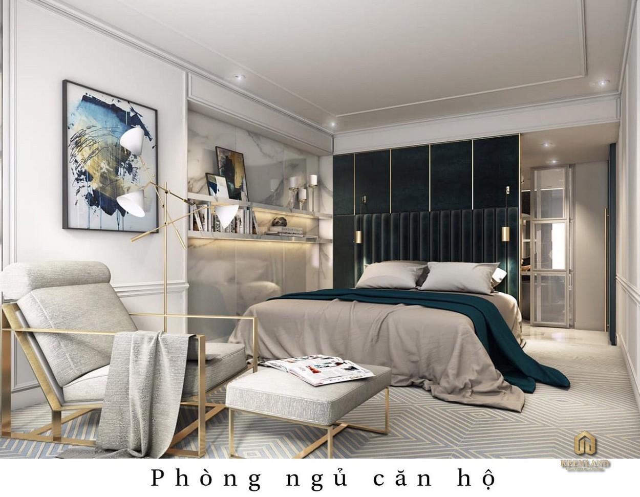 Thiết kế phòng ngủ căn hộ mẫu The Grand Manhattan