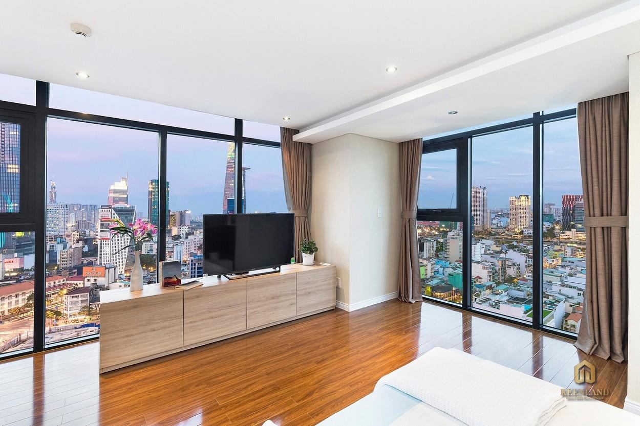 Thiết kế phòng ngủ căn hộ mẫu The One Saigon