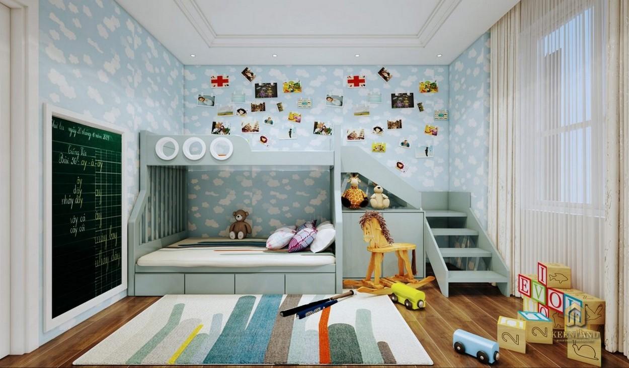 Thiết kế phòng ngủ cho bé căn hộ mẫu Grand Central Quận 3