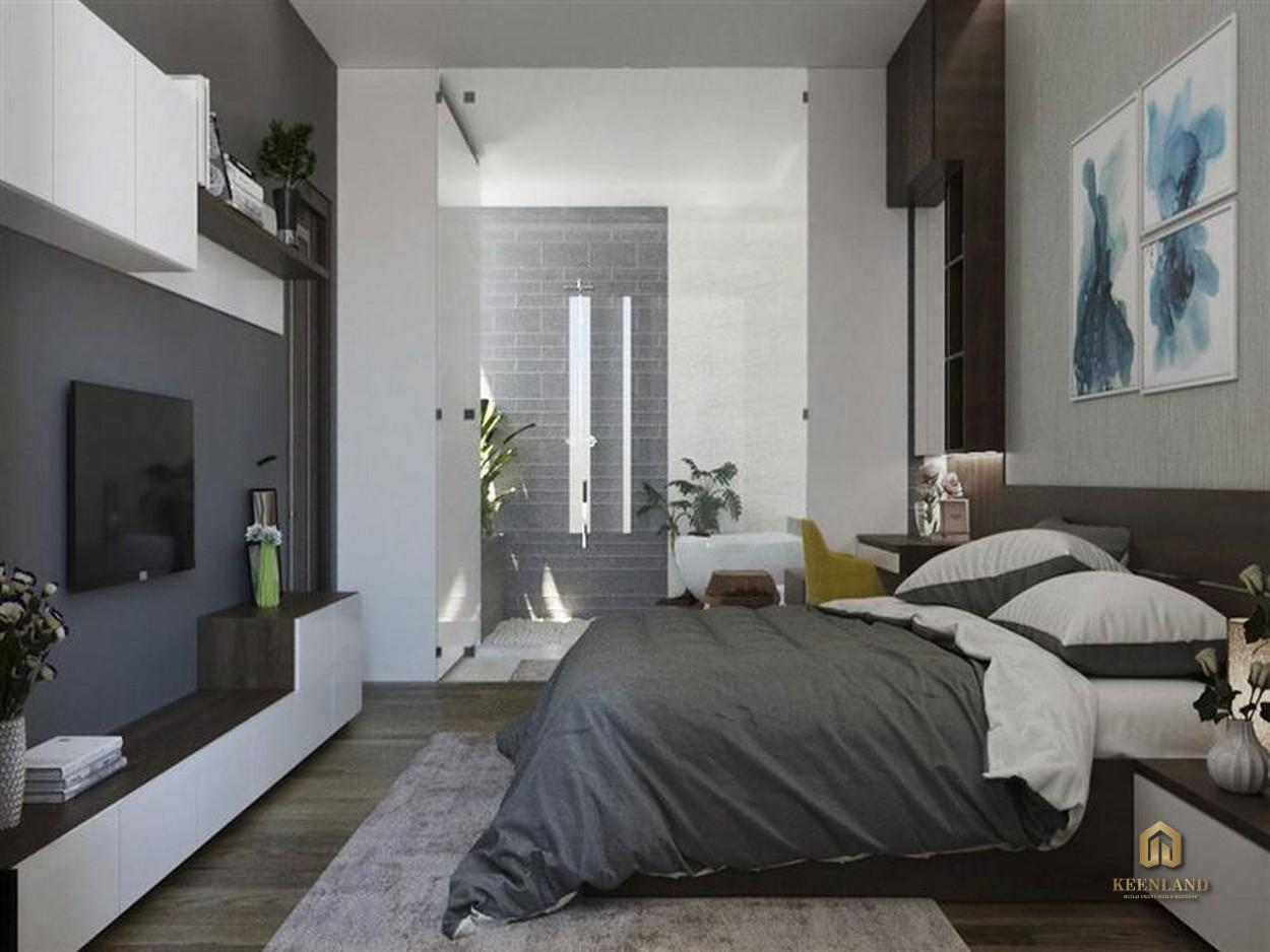 Thiết kế phòng ngủ căn hộ mẫu chung cư Thế Hệ Mới