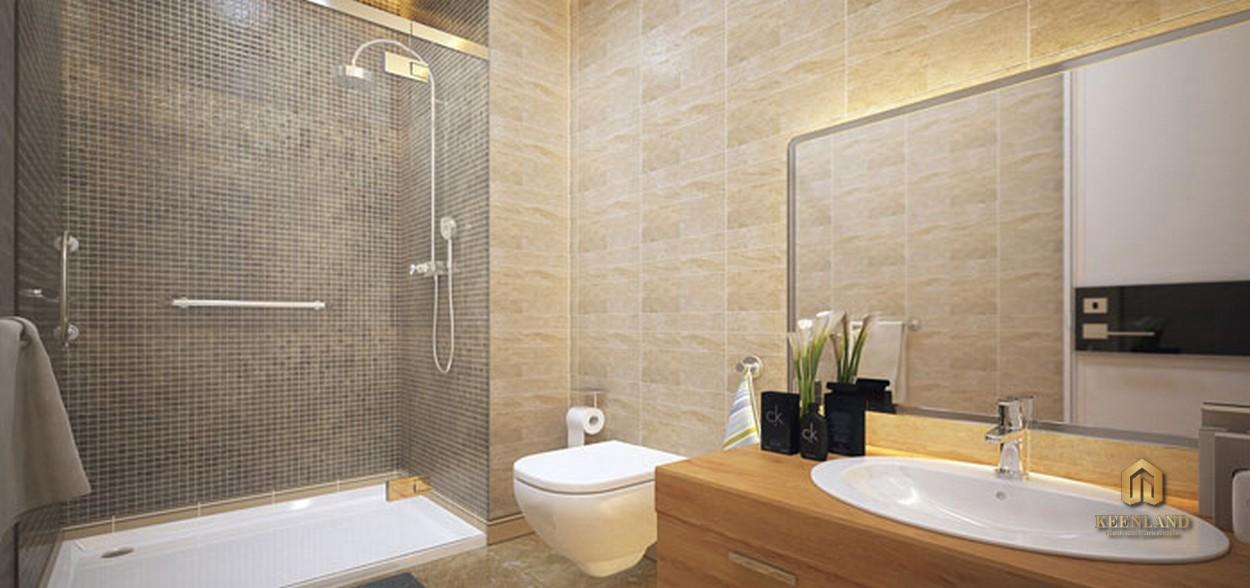 Thiết kế phòng WC căn hộ mẫu The Gold View Quận 4