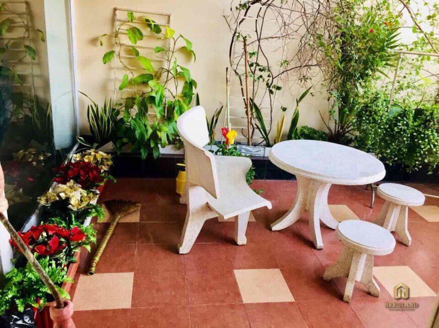 Thiết kế sân vườn căn hộ mẫu  Khánh Hội 1