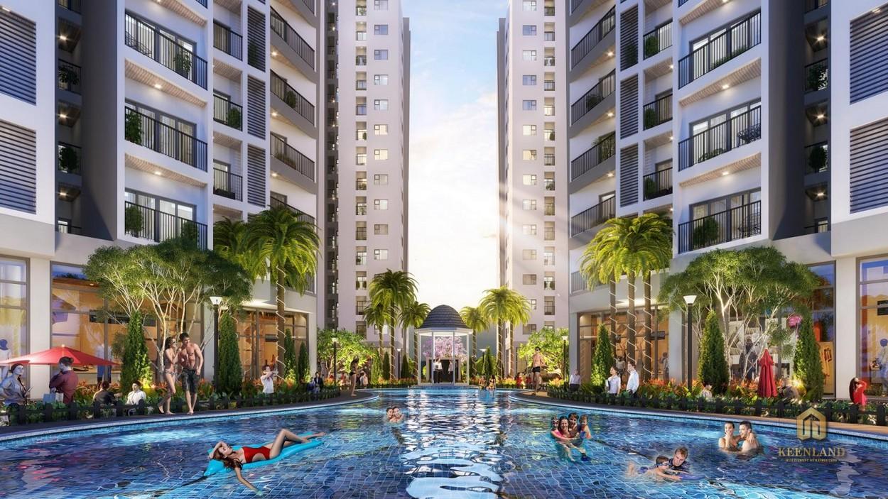 Hồ bơi nội khu An Phú Apartment Quận 6
