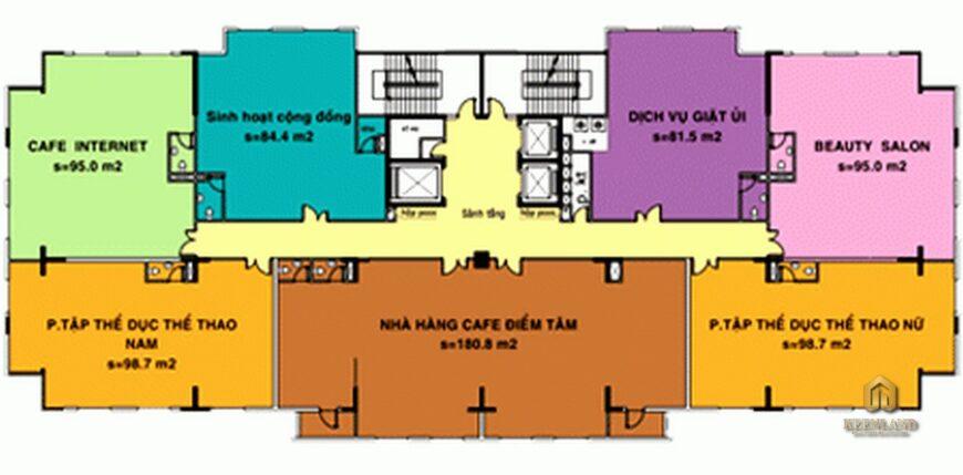 Sơ đồ tiện ích nội khu dự án căn hộ BMC