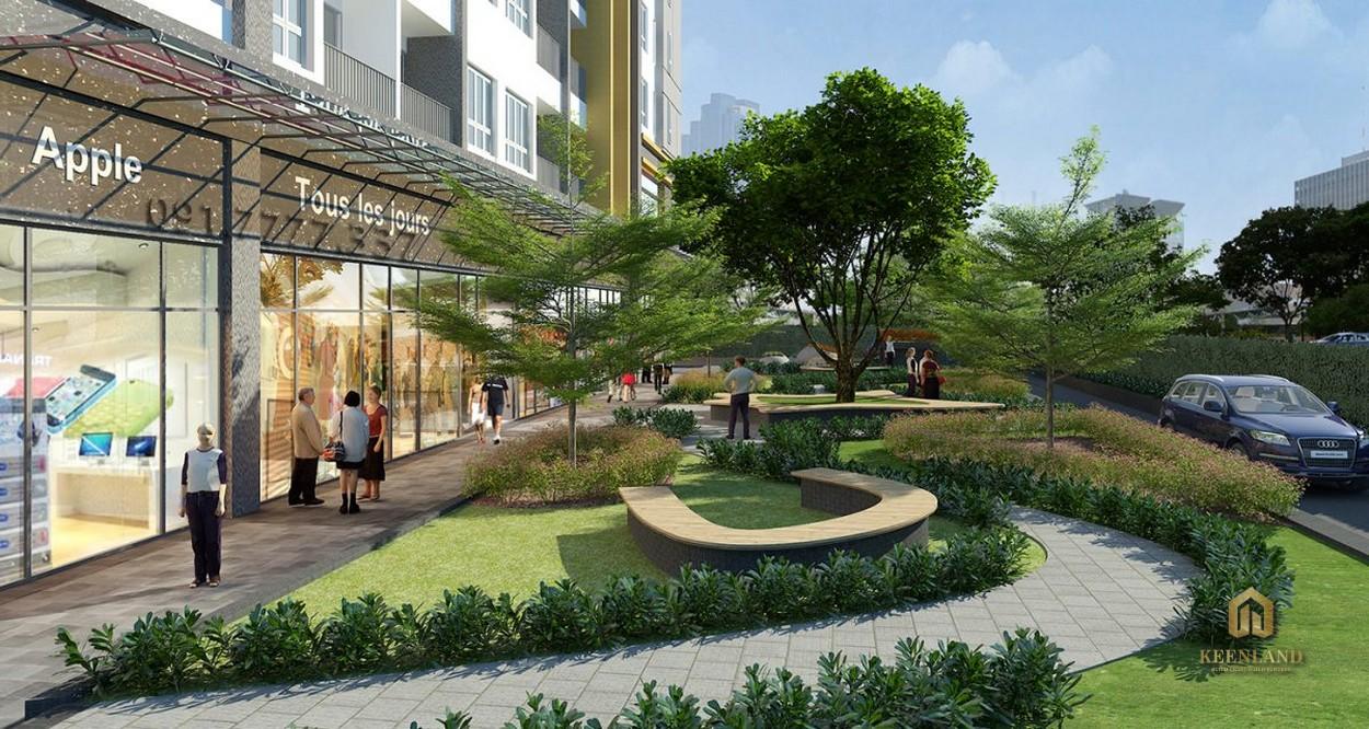 Khuôn viên cây xanh tại dự án The Botanica