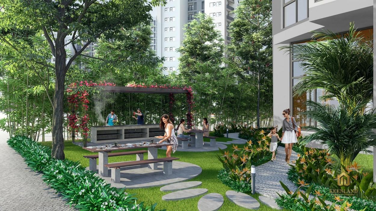 Khuôn viên xanh nội khu An Phú Apartment Quận 6