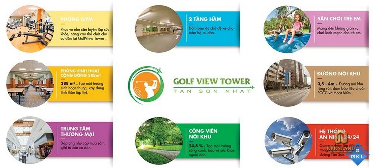 Tiện ích nội khu dự án Golf View Palace